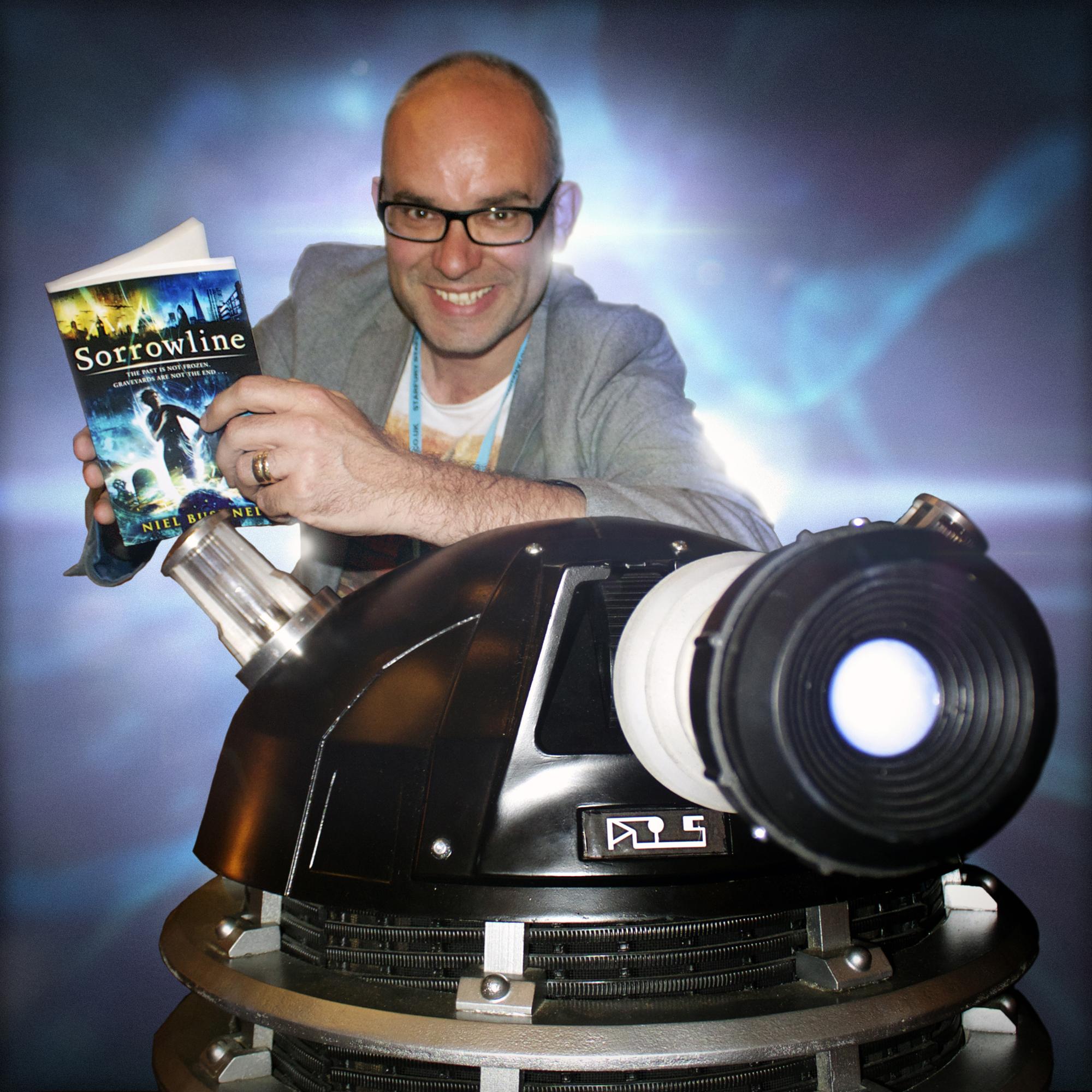 Niel Bushnell with Dalek